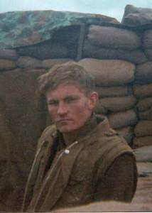 Blog author Ken Rodgers at Khe Sanh, Courtesy of Michael E O'Hara