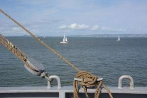 View from the deck of the SS Jeremiah O'Brien © Betty Rodgers 2014