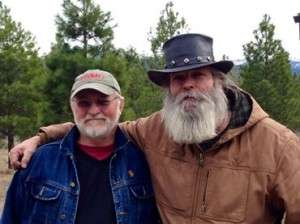 Left to right: Ken Rodgers and Sculptor Dennis Smith. © Betty Rodgers 2014