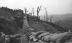 A trench line on Hill 881 South. Photo courtesy of marines.org