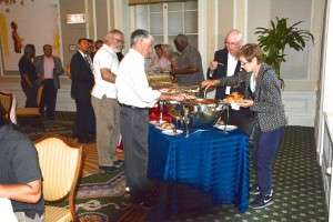 The buffet at the ULCC screening. © Betty Rodgers 2014