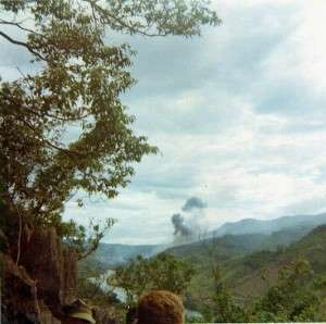 View  looking down on the Quang Tri River Valley where Route 9 ran. Photo by John Corvus