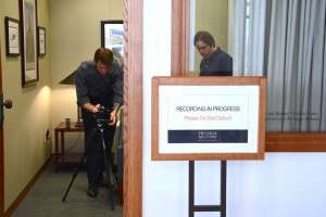 Preparing for an oral interview at the Pritzker. © Betty Rodgers 2014