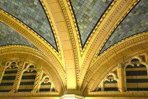 Some of the incredible architectural detail inside the Pritzker. © Betty Rodgers 2014