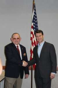 Michael E O'Hara and Congressman Todd Young.