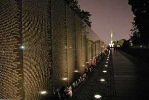 The Wall at night