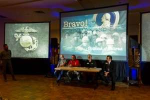 Panel discussion following the screening of BRAVO!. Left to right: Ken Rodgers, Ron Rees, Cliff Gaston, George Nickel. © Mike Shipman, Blue Planet Photography 2014