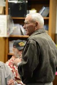 Skipper Ken Pipes at the Oceanside screening. © Betty Rodgers 2014
