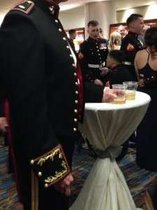 Dress blues at VMM-165's ball celebrating the 239th Marine Corps Birthday. © Betty Rodgers 2014