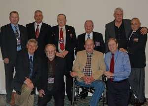 BRAVO! Corpsmen and Marines: Back (L to R): Jim Beall, Charles McIntire, Tom Quigley, John Cicala, Tom Kupcho, Ken Pipes, Front (L to R): Ken Korkow, Ken Rodgers, Mike McCauley, Ben Long © Betty Rodgers 2014
