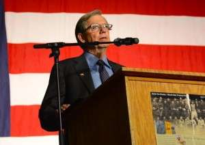 Tom Croft, emcee for the 14th Annual Sonoma County Tribute to Our Veterans. © Betty Rodgers 2014