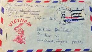An envelope I used to write my parents while I was in Vietnam. © Ken Rodgers 2014