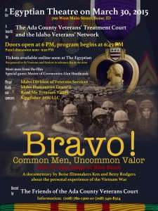 Poster for screening of BRAVO! at the Egyptian Theater, march 30, 2015
