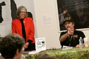 Author Julie Titone and Vietnam Veteran Bill Crist at the National Veterans Art Museum