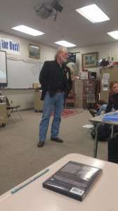 Another shot of Ken Rodgers at Boise High School
