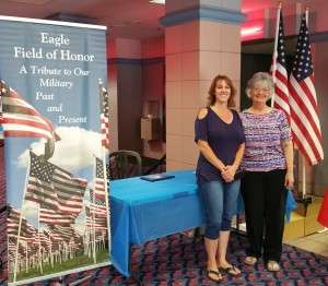 Left to right: The Eagle Field of Honor's Heather Paredes and BRAVO! co-producer Betty Rodgers at the screening of BRAVO! at Boise's Northgate Reel Theaters.
