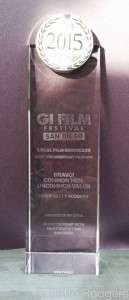 The award for Best Documentary Feature at the G I Film Festival San Diego. Photo courtesy of Betty Rodgers.