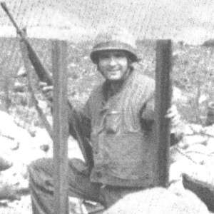 Skipper and poet, Ken Pipes, at Khe Sanh