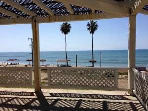 View of the Pacific Ocean from the old Enlisted Men's Club at the beach on Camp Pendleton. Photo courtesy of Betty Rodgers