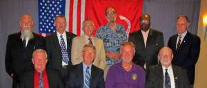 Some of the men of Bravo Company, 1/26 at the 2012 Khe Sanh Veterans Reunion. Ron Exum is in the second row, second from the right. Tom Steinhardt is in the second row, third from the left.
