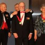 Left to right: Commandant General Robert Neller, Retired Lt. General Robert Blackman, Ken Rodgers, Betty Rodgers. Photo Courtesy of Daniel Folz.