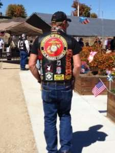 One of the attendees at the 9/11 ceremony at the Idaho Veterans Garden. Photo courtesy of Betty Rodgers.