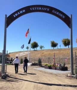 The entrance to the Idaho Veterans Garden in Caldwell, Idaho. Photo courtesy of Betty Rodgers.
