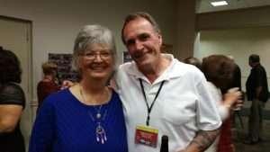 BRAVO! co-producer Betty Rodgers, left, and BRAVO! Marine Frank McCauley. Photo courtesy of Ken Rodgers