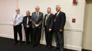 Marines and Corpsmen of Bravo, 1/26. Left to Right: Ken Rodgers. John Cicala, Bruce Jones, Jim Beal, Mike McIntyre. Photo courtesy of Betty Rodgers.